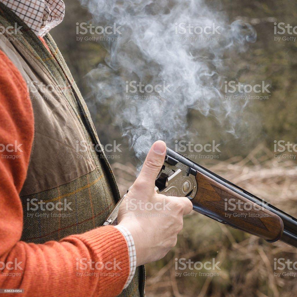 Smokin ! stock photo