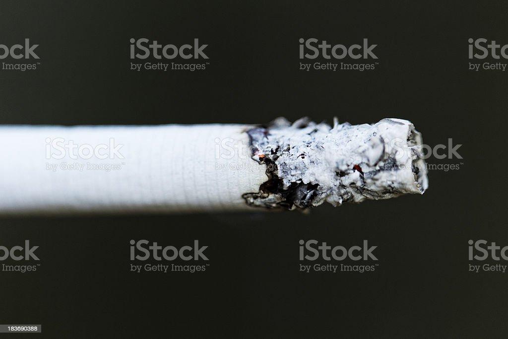 smoking a cigarette royalty-free stock photo