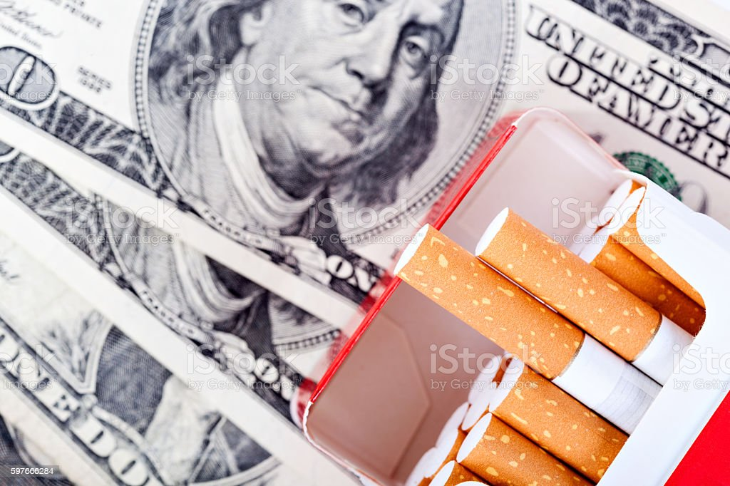 smoking - a strong harm to health stock photo