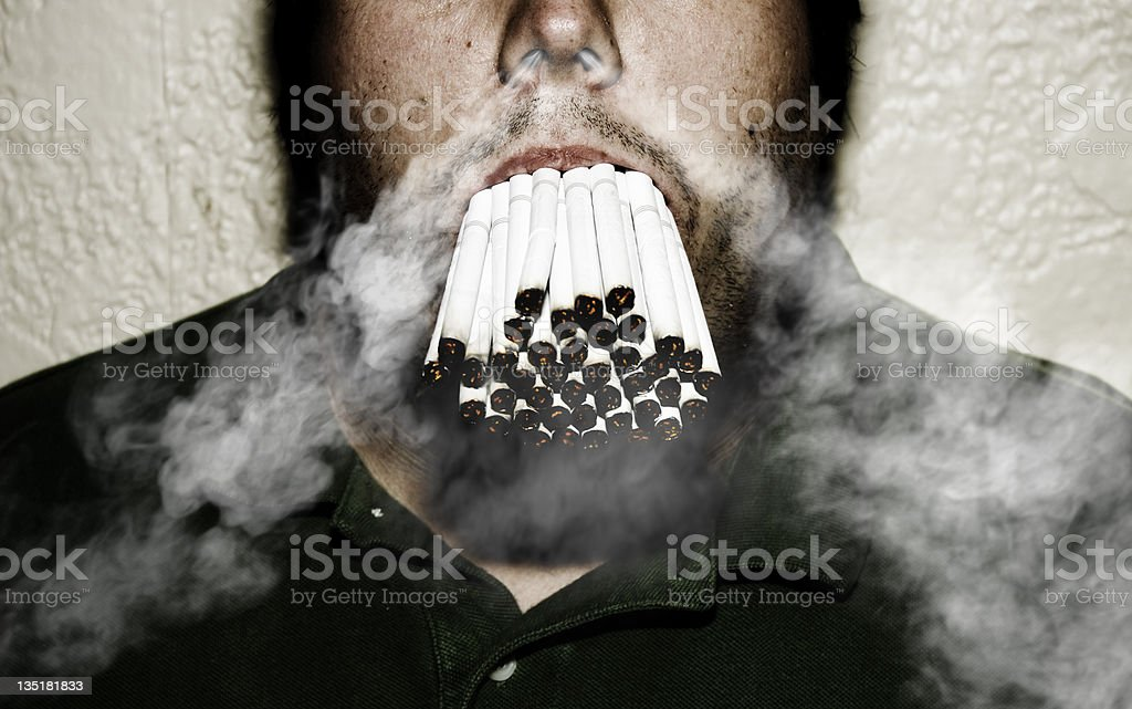 Smoking Addiction royalty-free stock photo