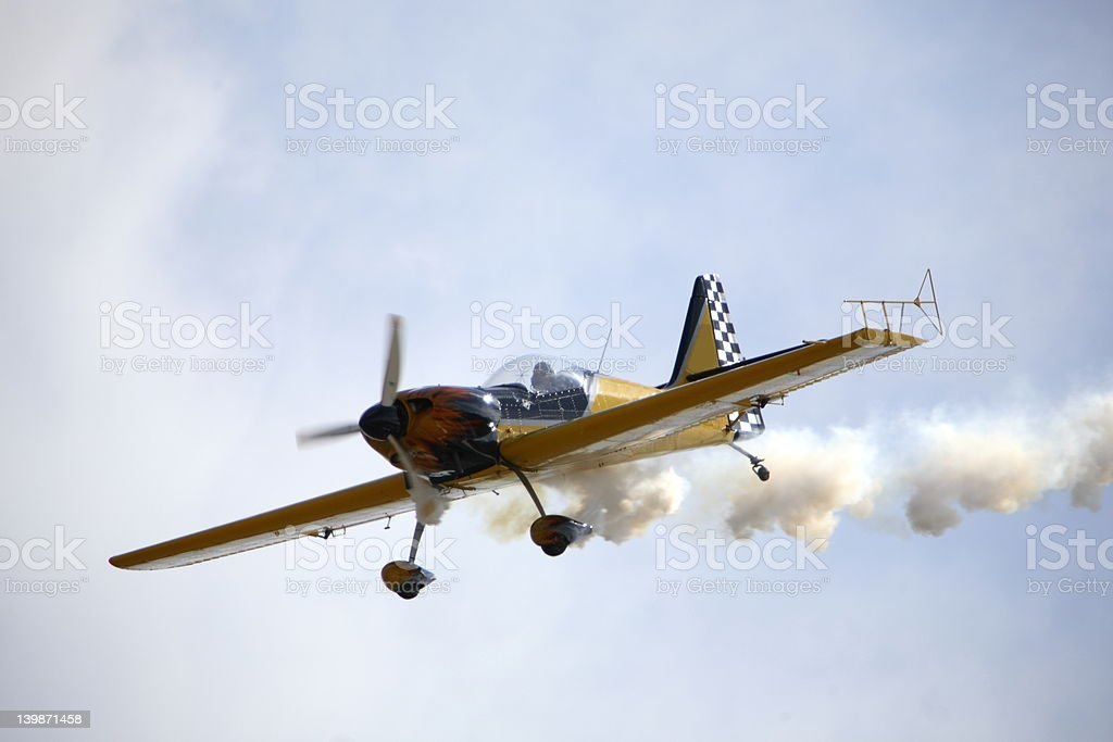 Smoking Aircraft royalty-free stock photo