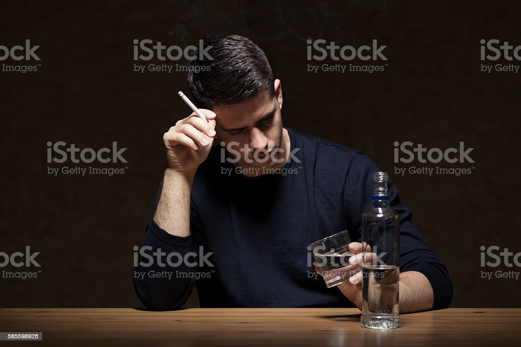 Smoking and drinking stock photo