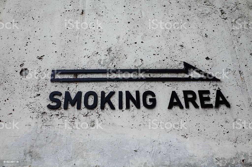 Smoking Area stock photo