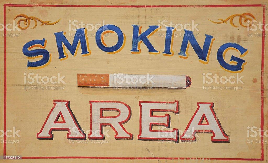 Smoking Area sign royalty-free stock photo