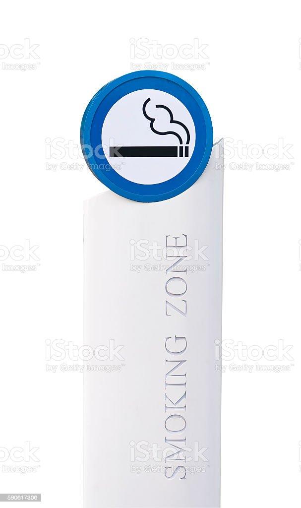 Smoking area sign. stock photo