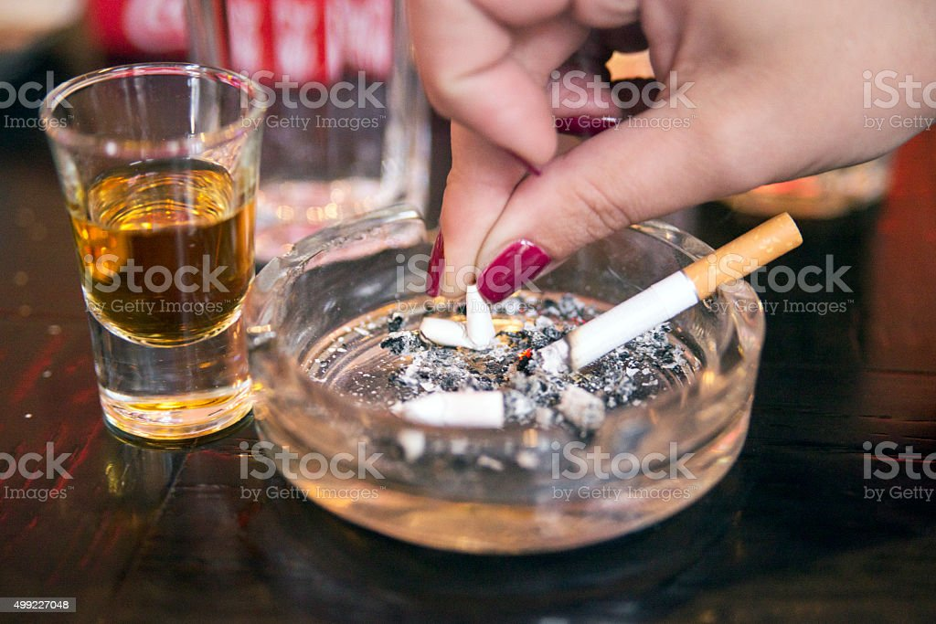 Smoking ban - Substance abuse, cigarette stock photo