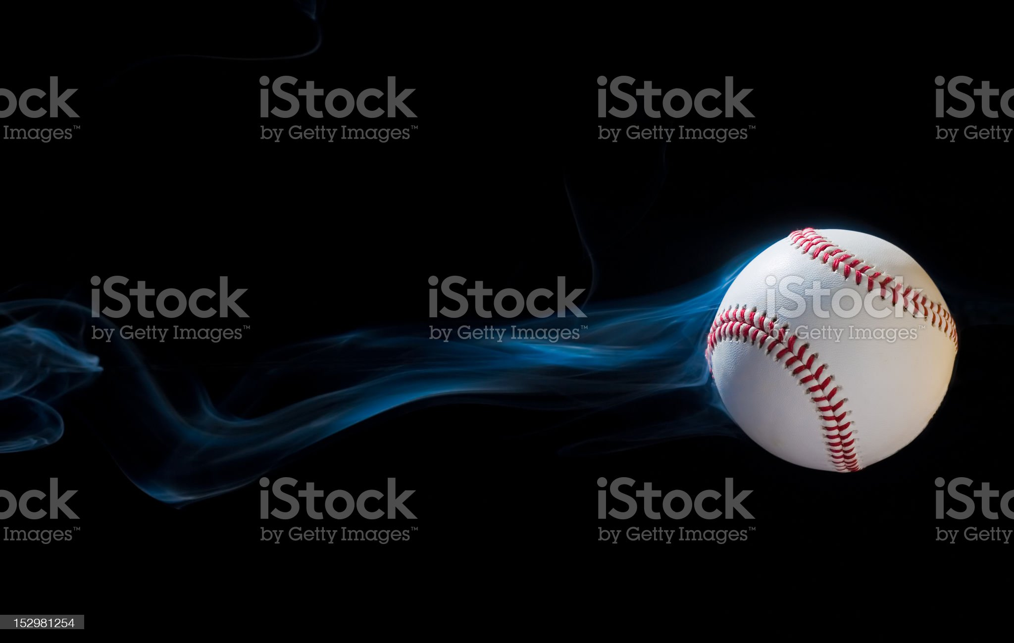 Smoking Baseball royalty-free stock photo