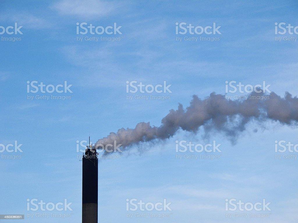 Smoking chimney royalty-free stock photo