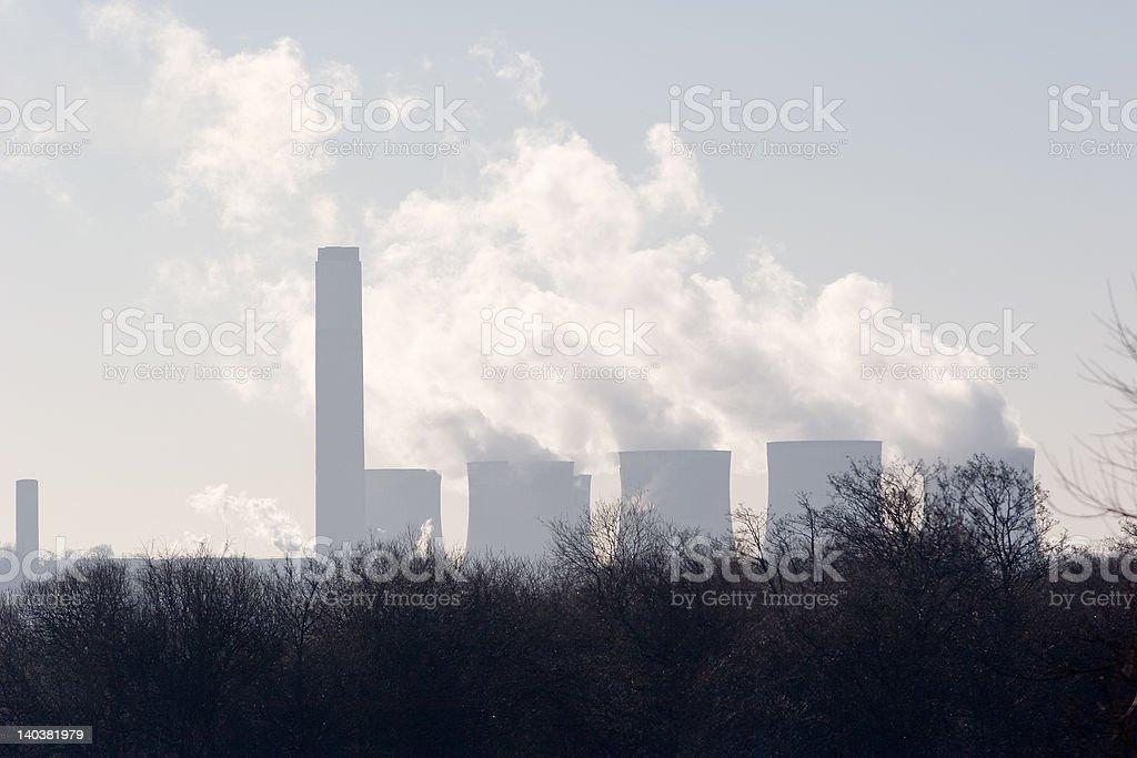 Smoking Chimneys royalty-free stock photo