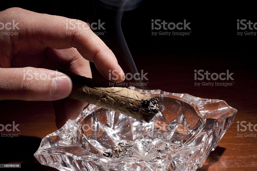 Smoking Cigar royalty-free stock photo