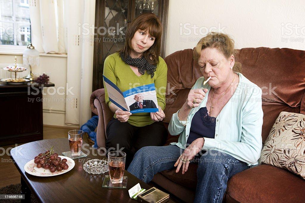 smoking concerns royalty-free stock photo