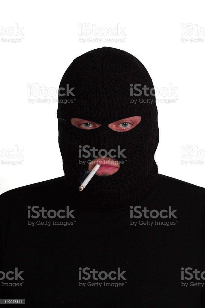 Smoking conman stock photo