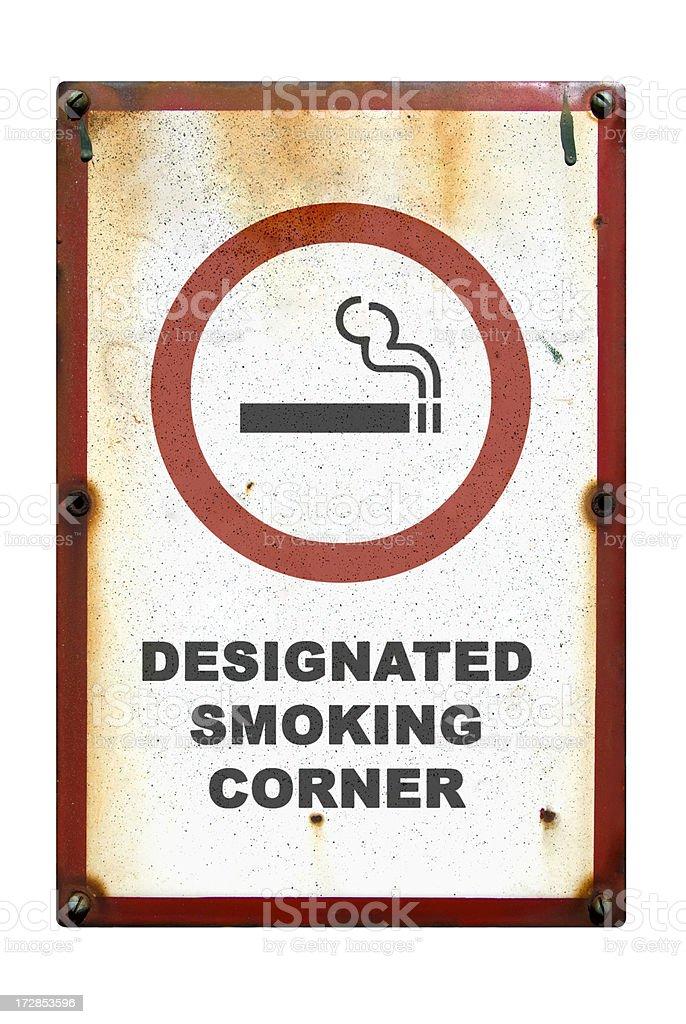 Smoking corner stock photo