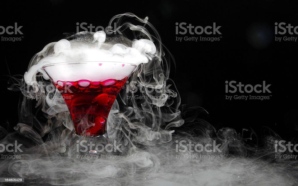 Smoking cosmopolitan stock photo