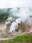 Smoking crater of the volcano Mutnovsky on Kamchatka