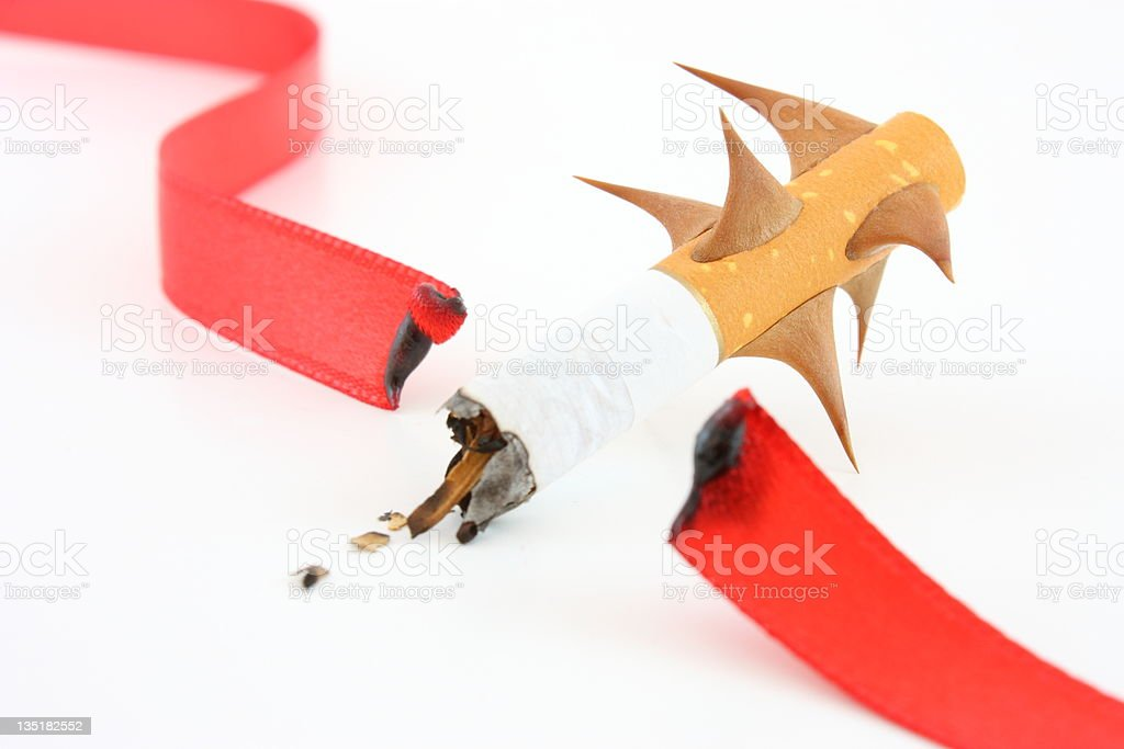 Smoking damage royalty-free stock photo