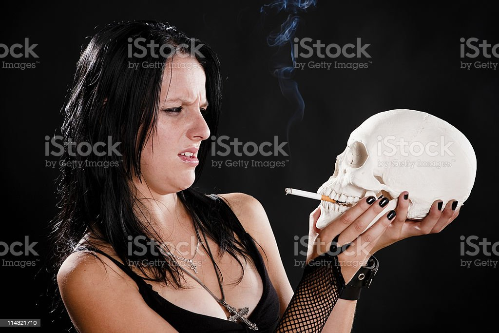 Smoking disgust royalty-free stock photo