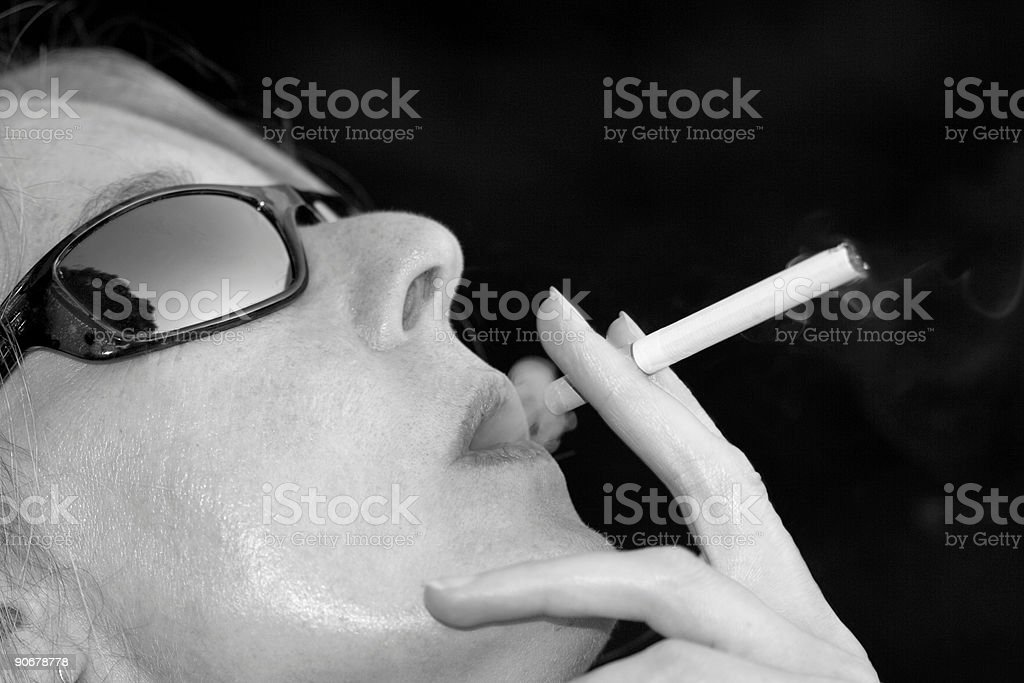 Smoking Diva royalty-free stock photo