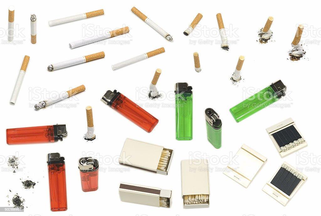 Smoking Elements stock photo