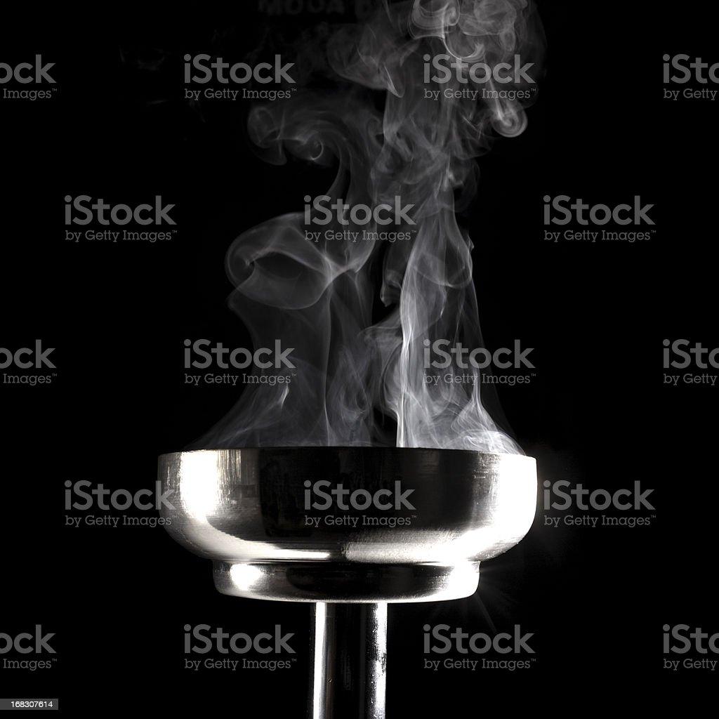 smoking flaming torch stock photo