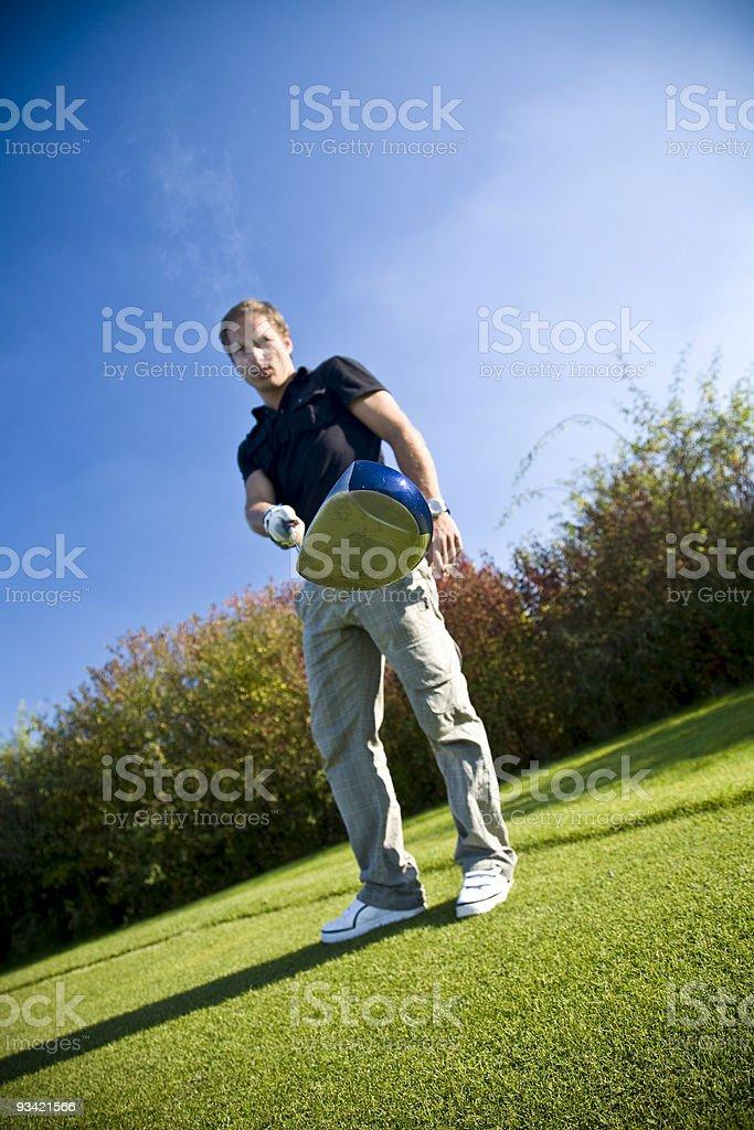 smoking golf player royalty-free stock photo