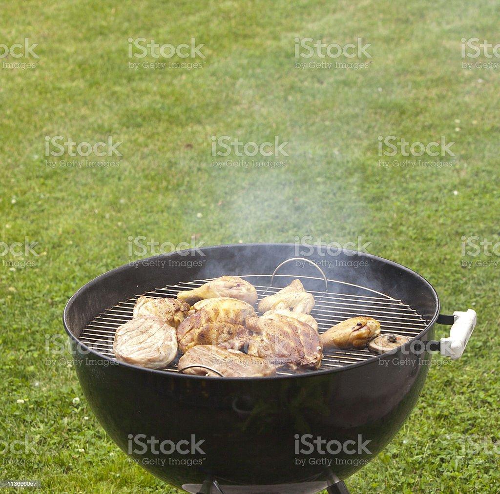 Smoking Grill royalty-free stock photo