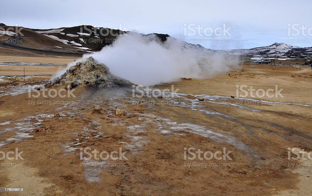 Smoking ground royalty-free stock photo