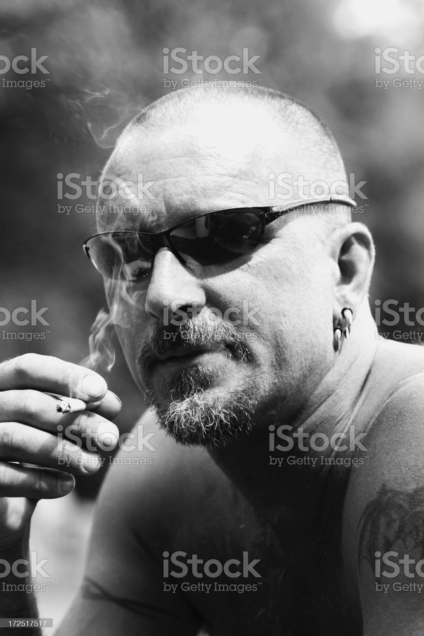 Smoking Guy royalty-free stock photo