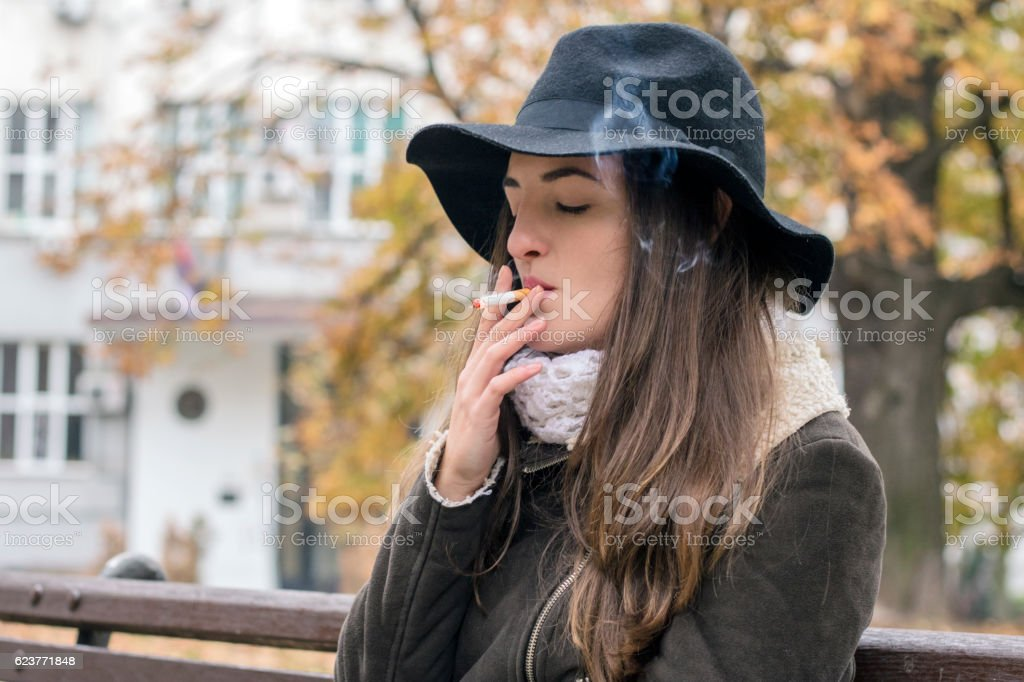 Smoking helps in losing weight, one lung at a time stock photo