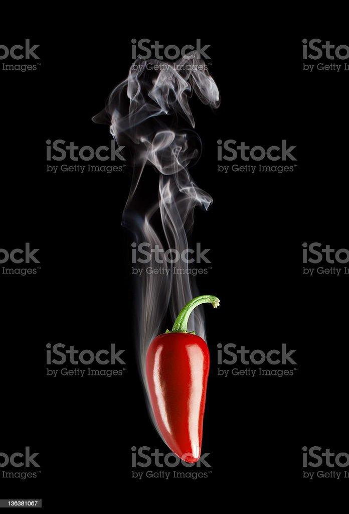 Smoking Hot Red Jalapeno Pepper (Capsicum Annuum) stock photo
