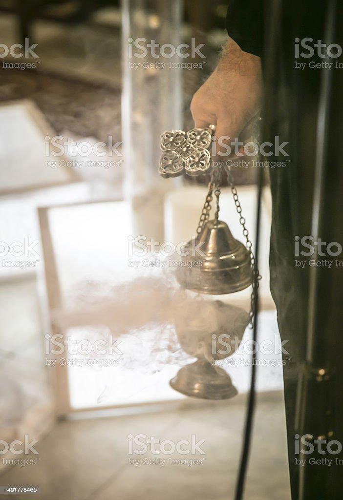 Smoking Incense stock photo