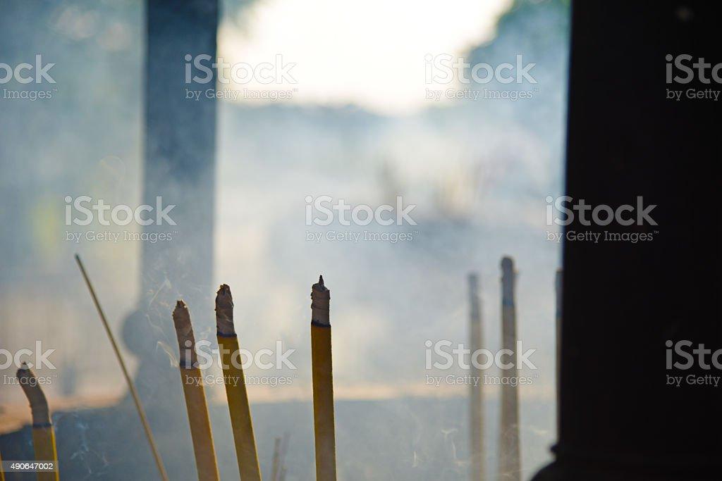Smoking incenses stock photo