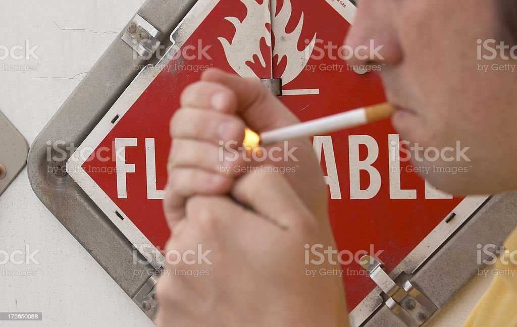 Smoking is dangerous 2 stock photo