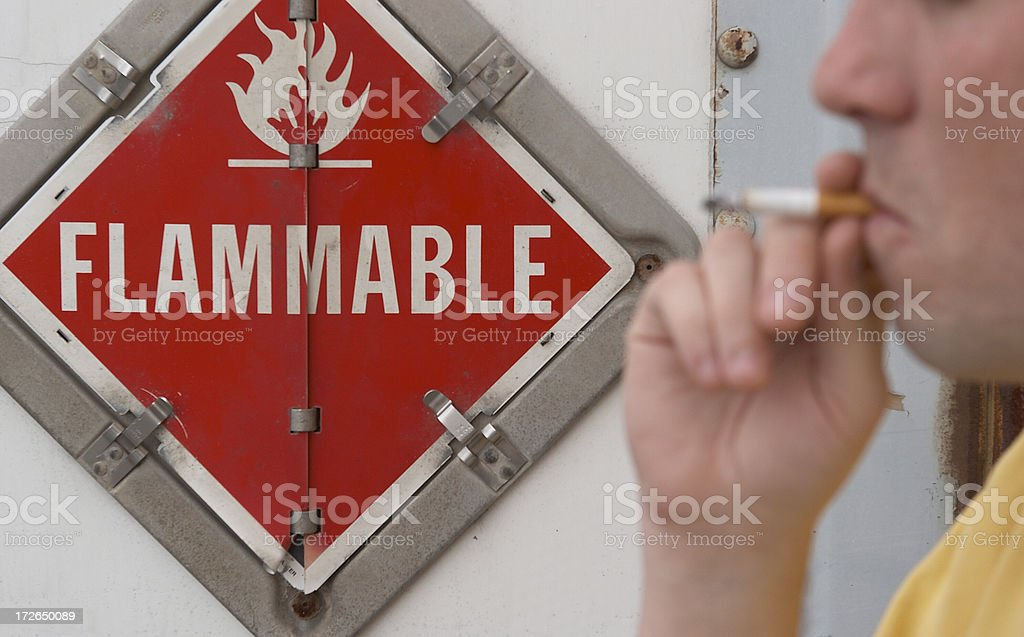 Smoking is dangerous 4 stock photo