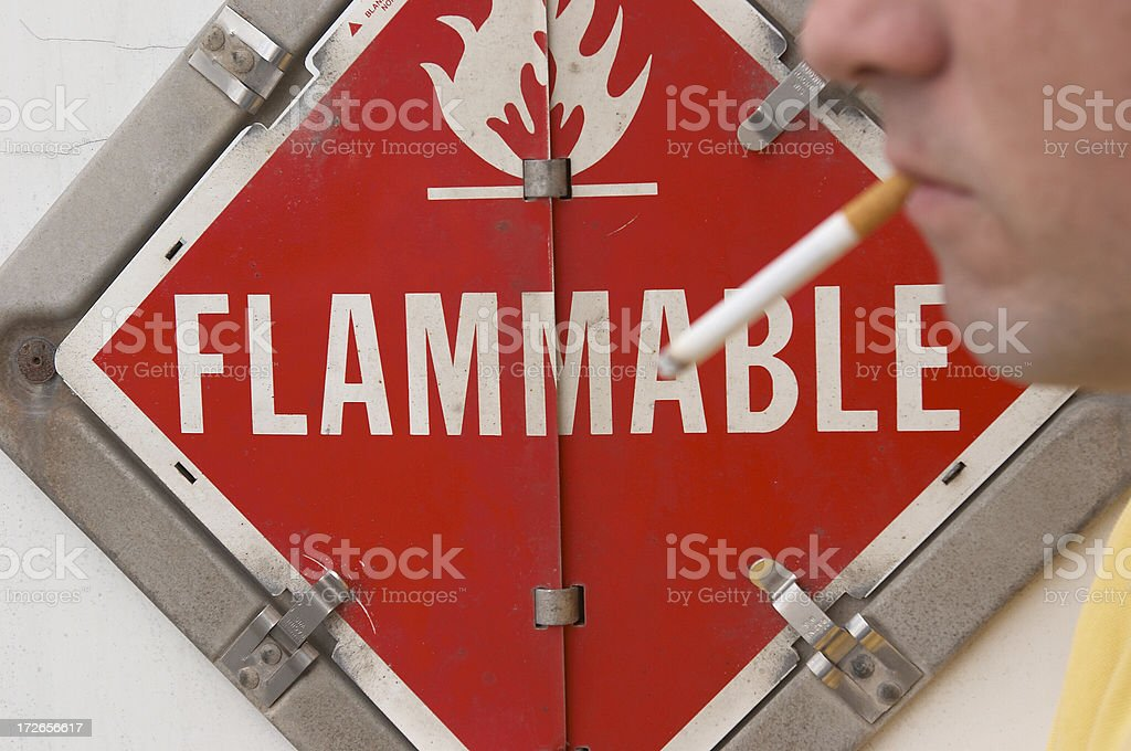 smoking is dangerous stock photo