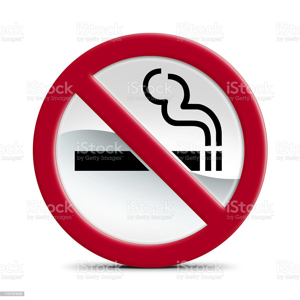 Smoking is not allowed stock photo