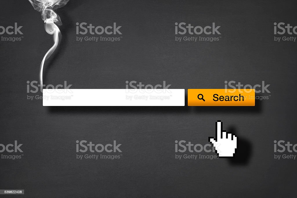 Smoking Issues: Search Engine with Copy Space stock photo