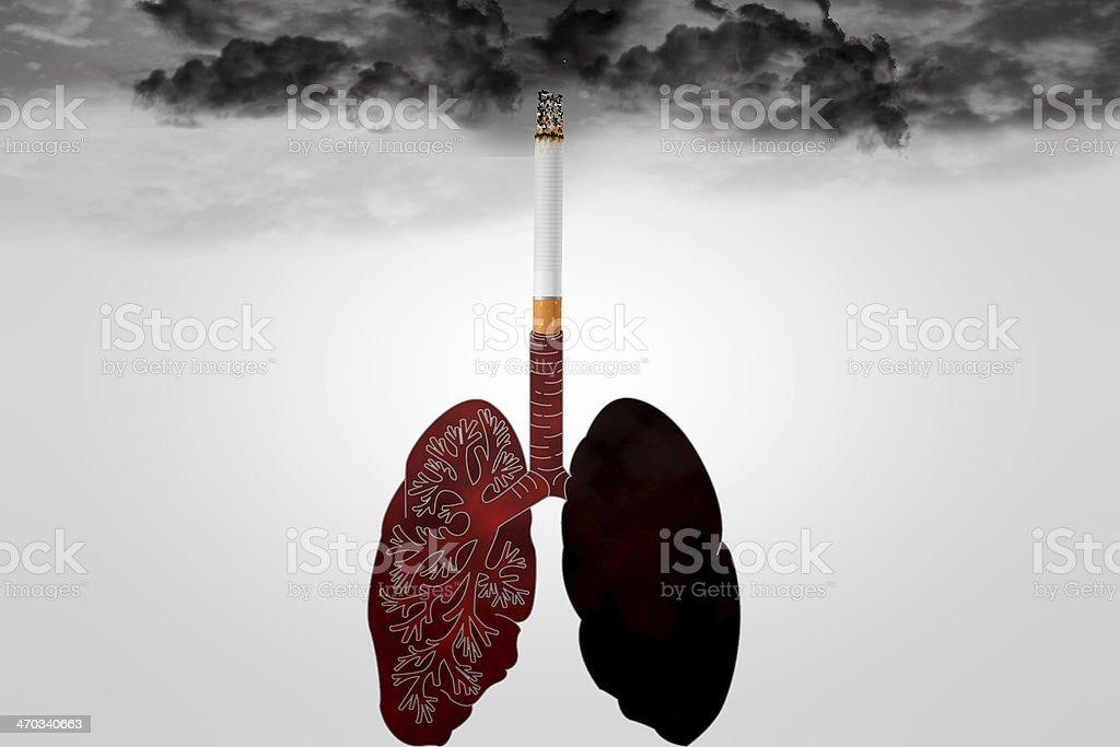 smoking lungs royalty-free stock photo