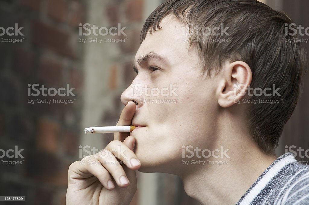 Smoking man royalty-free stock photo