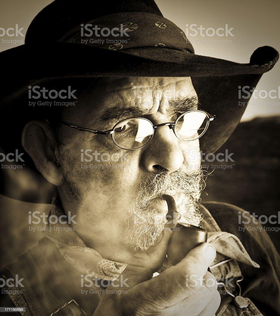 Smoking man royalty-free stock photo