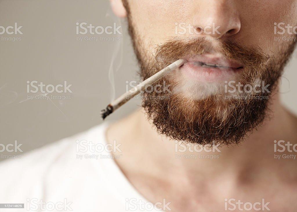 Smoking Marijuana royalty-free stock photo