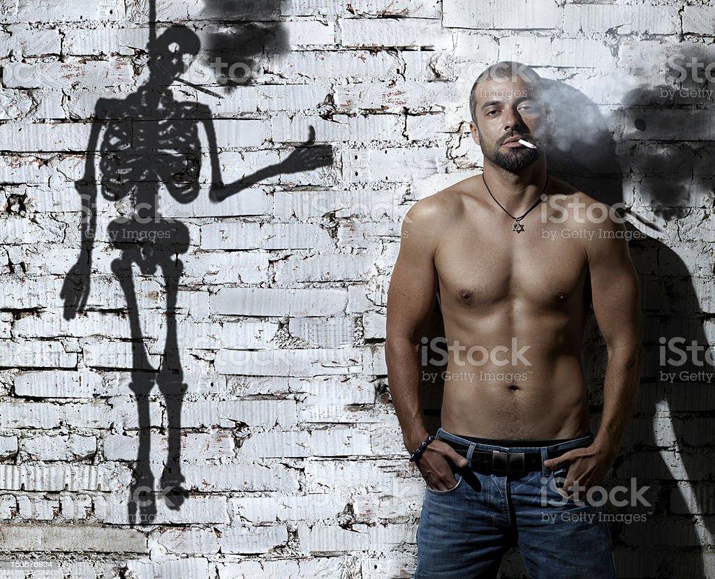 Smoking people stock photo