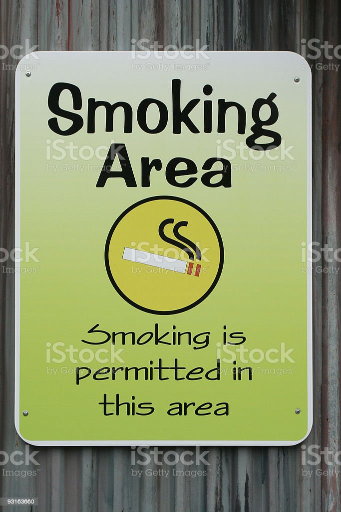 Smoking permitted sign stock photo