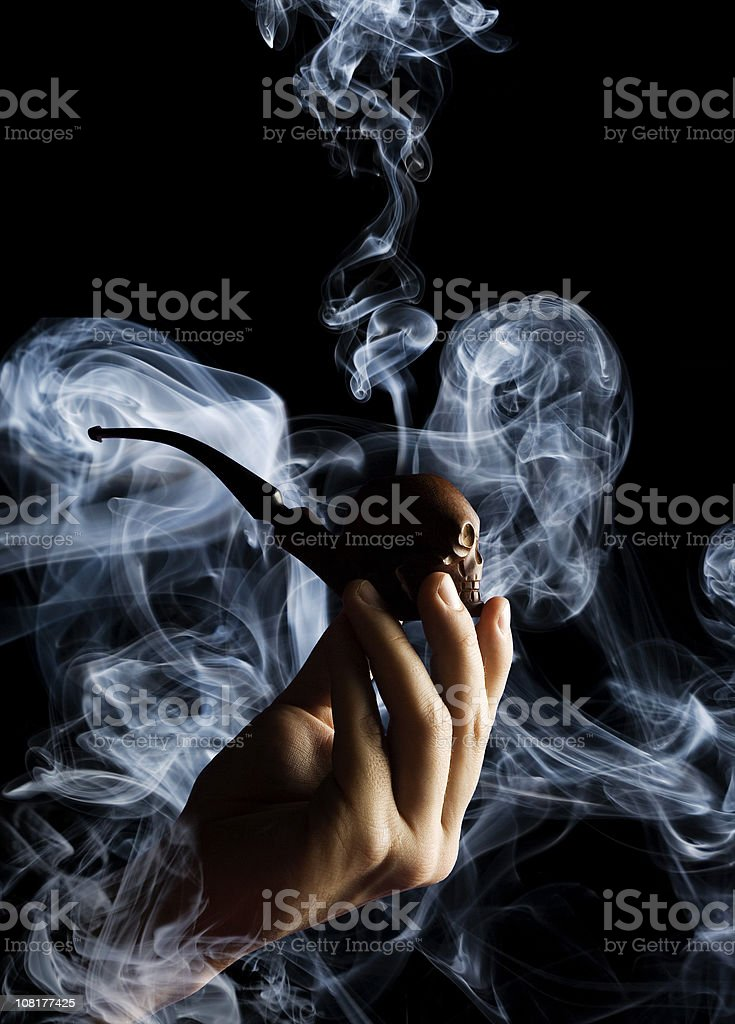 Smoking Pipe stock photo