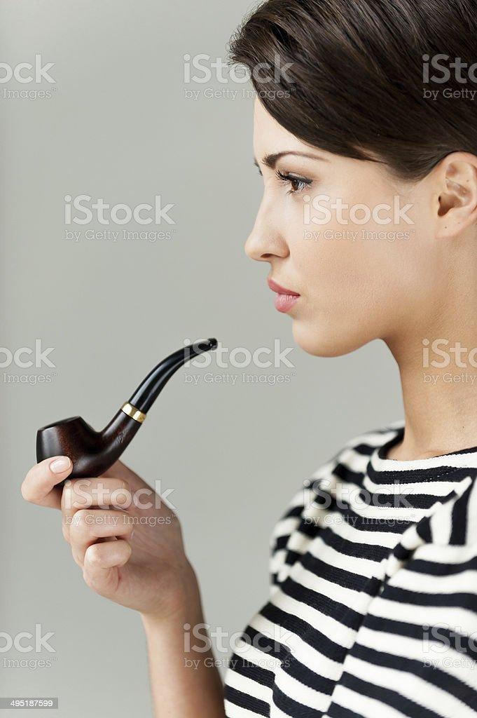 Smoking pipe. stock photo