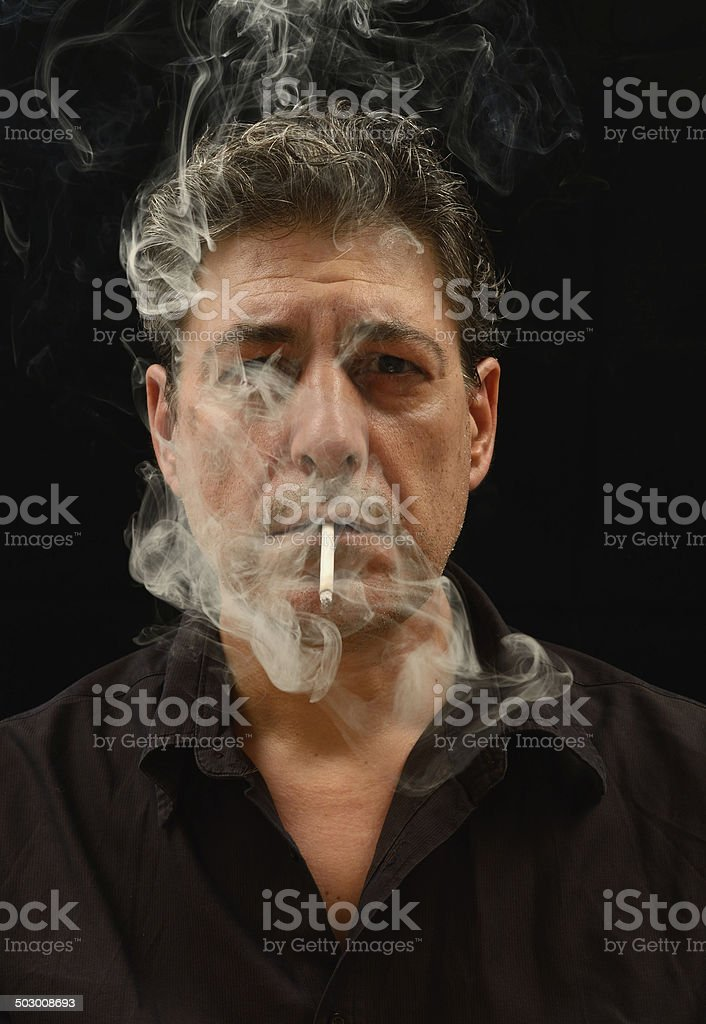 Smoking Portrait royalty-free stock photo