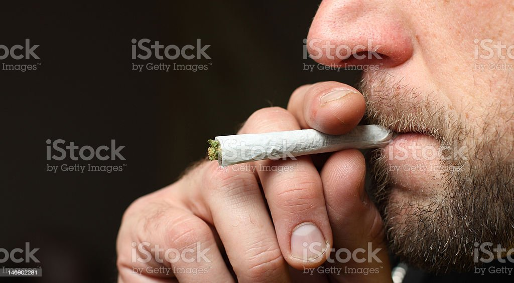 smoking pot royalty-free stock photo