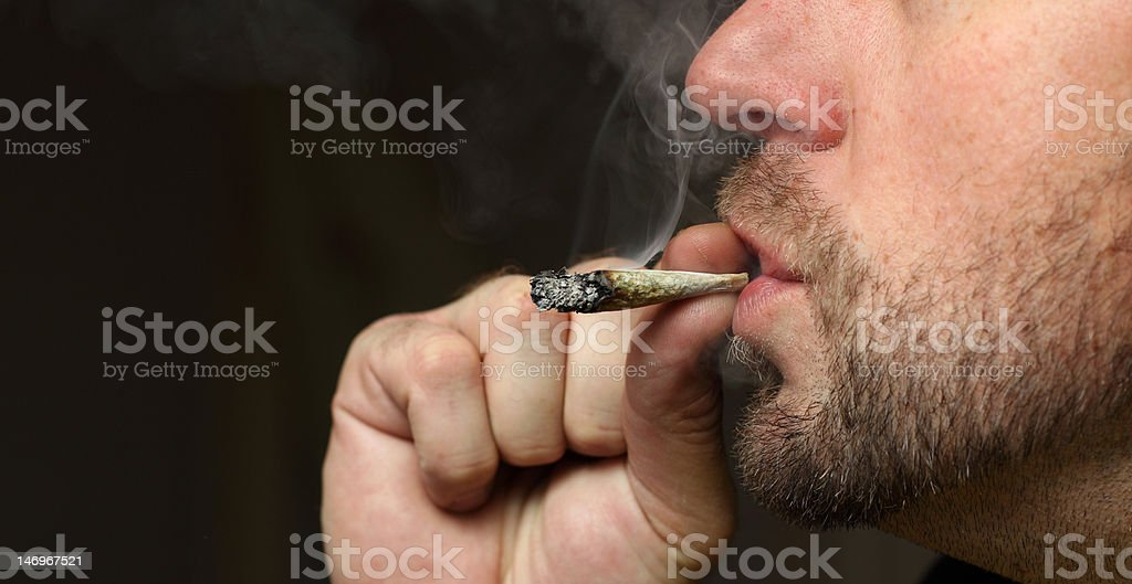 smoking pot royalty-free stock photo