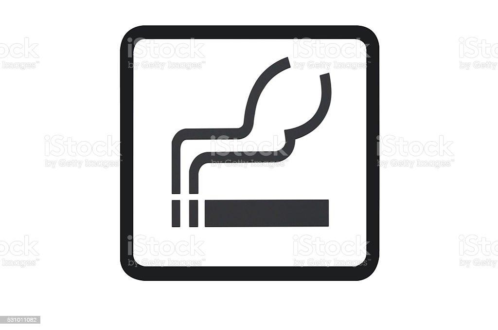 Smoking sign stock photo