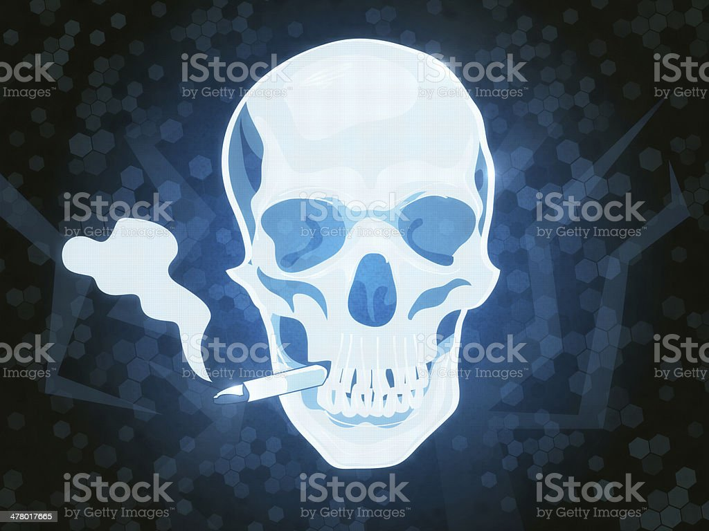 Smoking Sign Skull royalty-free stock photo